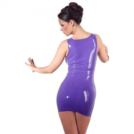 Latex Mini Dress Purple