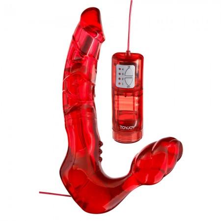 Toy Joy Bend Over Boyfriend Red Strapless Strap On