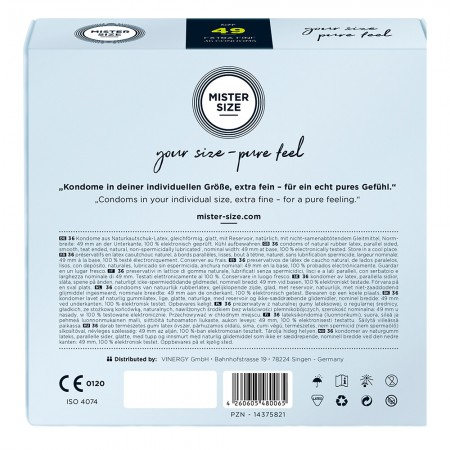 Mister Size 49mm Your Size Pure Feel Condoms 36 Pack