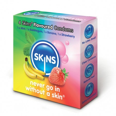Skins Flavoured Condoms 4 Pack
